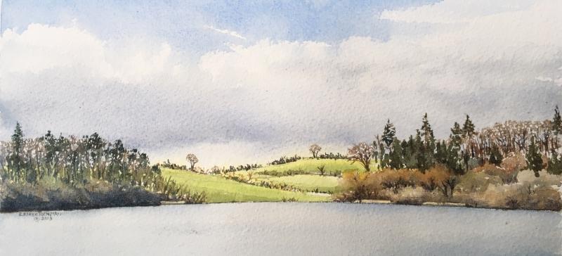 Annaghmakerrig-2, 2019, watercolour, 6x12 ins.
