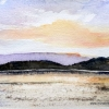 Elizabeth Kirschenman, Sunrise on Lough Annaghmakerrig, 2014