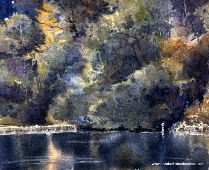 Dawn on the Lake, 2014, watercolour, 8 x 10 ins.
