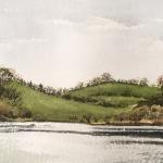 Annaghmakerrig-1, 2019, watercolour, 6x12 ins