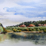 Lough Annaghmakerrig East, 2014, 5.5x8.5 ins.,Sold