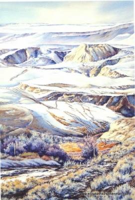 Elizabeth Kirschenman, Frosty Trails,_card