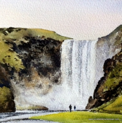 Elizabeth Kirschenman, Iceland, Skogafoss Waterfall, 2016