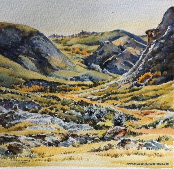 Rocky Washout 2, 2016, 7x7 ins., sold