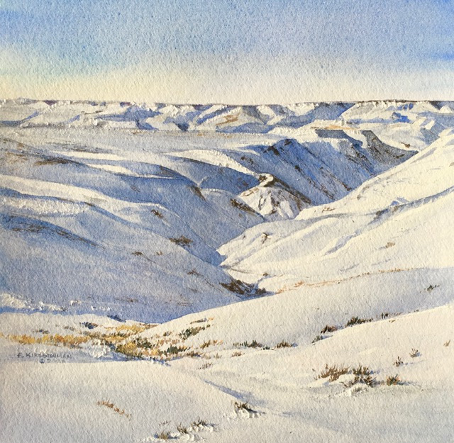 Winter in Long Coulee, 2020