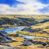 South on the South Saskatchewan, 2018, 12x16 ins., donation to Medicine Hat and District Health Foundation fundraiser