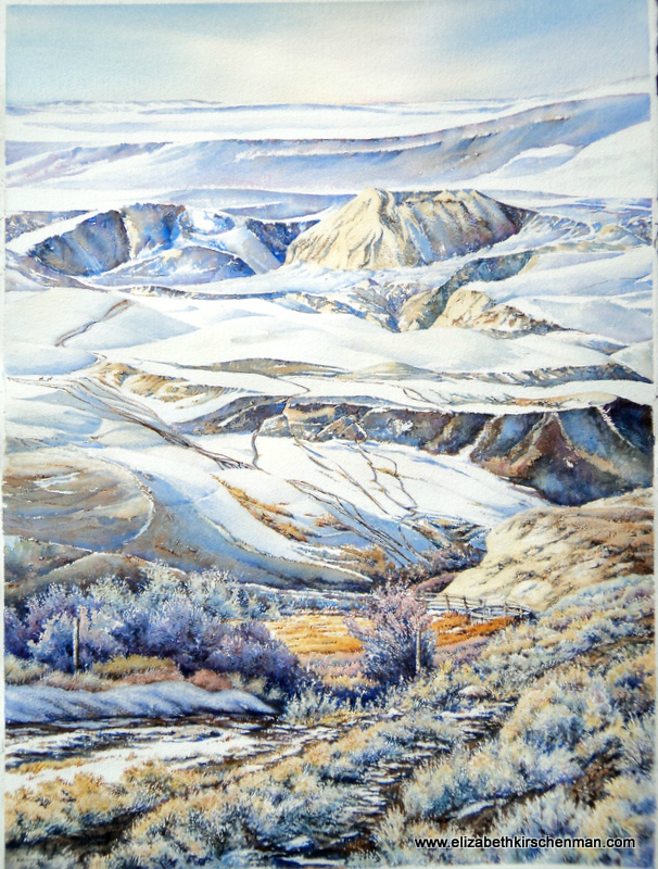 Frosty Trails, 2012, 22x30 ins., lost in 2017 fire