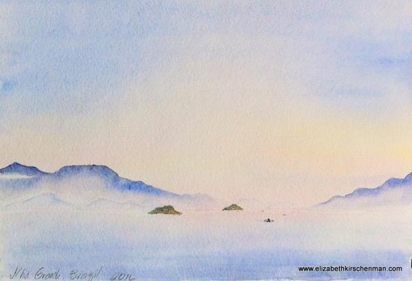 Elizabeth Kirschenman, Fishing ends at Daybreak, 2016