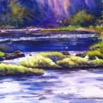 Elizabeth Kirschenman, Swans on the River Shannon, 2013